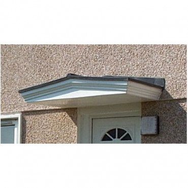 Ripon Lead Effect Roof Moulded GRP Front Door Canopy