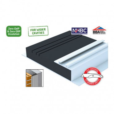 Multi Width Insulated Cavity Closer 100mm to 150mm x 2.4m (Pack Of 6)