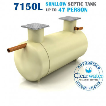 Shallow Dig Septic Tank 7150 Litre
