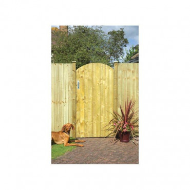 Arched Feather Edge Garden Gate 1.85m
