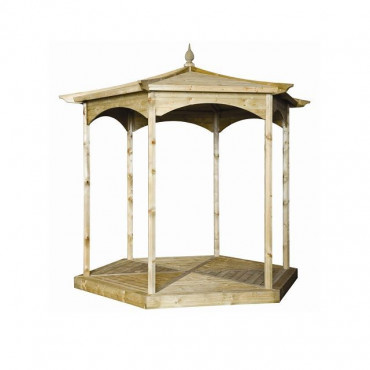 Budleigh Garden Gazebo Hexagon No Sides