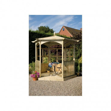 Budleigh Garden Gazebo Hexagon Dressed B