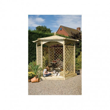 Budleigh Garden Gazebo Hexagon Dressed C