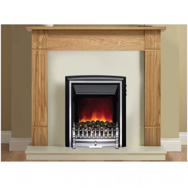 Darras Electric Fireplace Suite - Natural Oak Marfil Effect - 20 Inch Hearth
