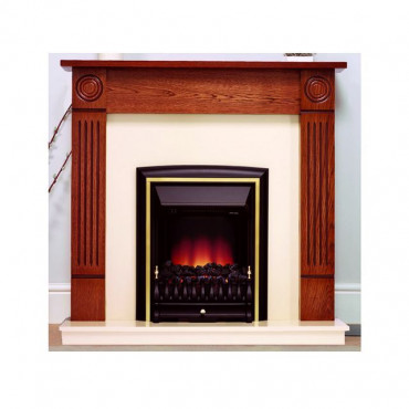 Darras Electric Fireplace Suite - Warm Oak Marfil Effect - 20 Inch Hearth