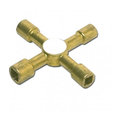 Brass Multi Purpose 4 Way Key
