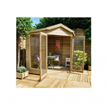 Blockley Summerhouse - 7x7 Shiplap Corner Pressure Treated