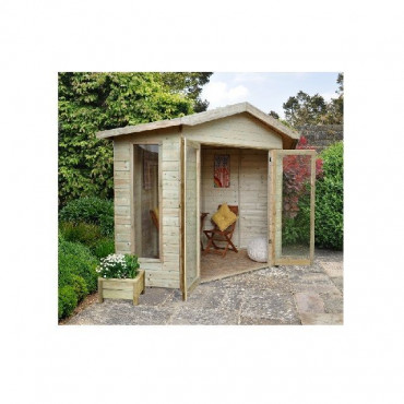 Honeybourne Summerhouse - 8x8 Shiplap Corner Pressure Treated