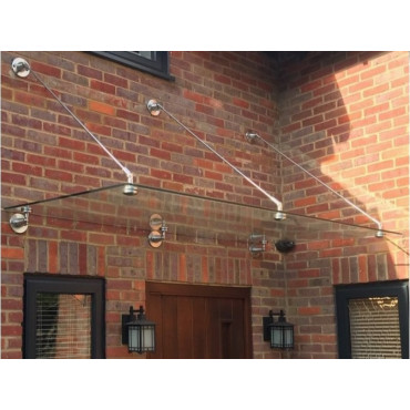 Mewslade Glass Door Canopy With Tie Rods Heavy-Duty