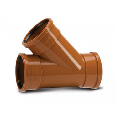 110 x 110mm x 45 Deg Underground Drain Junction Triple Socket UG405