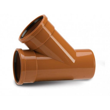 110 x 110mm x 45 Deg Underground Drain Junction Double Socket UG406