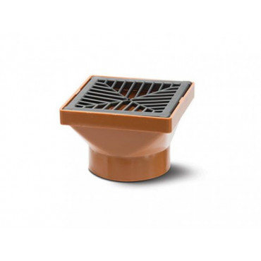 110mm Underground Drain Square Hopper Including Grid UG414
