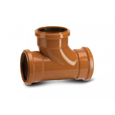 110 x 110mm x 87.5 Deg Underground Drain Junction Triple Socket UG423