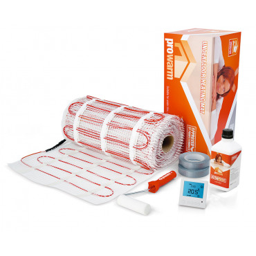 Electric Underfloor Heating 200w mat kit with Pro Digital Thermostat