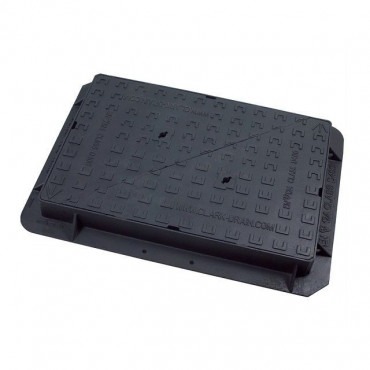 900 x 600 x 100 Solid Top Ductile Iron Cover & Frame D400KN