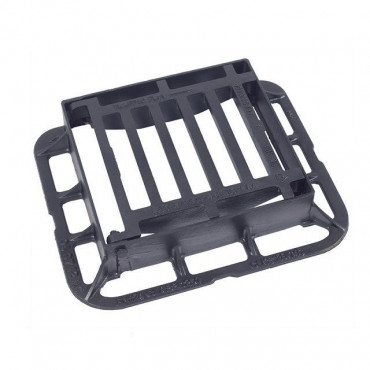 336 x 308 x 75 End Hinged Ductile Iron Gully Grating C250KN