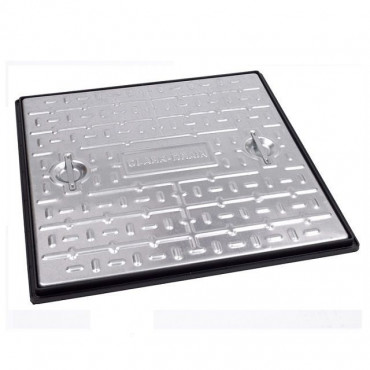 600 x 600mm Galvanised Manhole Cover & Frame Pedestrian