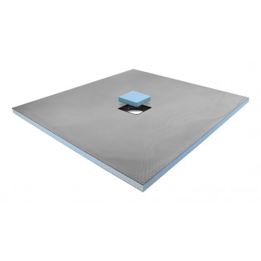 Centre drain wet room shower tray