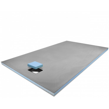 End drain wet room shower tray