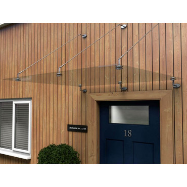 Mewslade Glass Door Canopy With Tie Rods