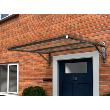 Whitesands Flat Polycarbonate Door Canopy