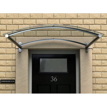 Pendine Curved Polycarbonate Door Canopy 755mm Projection