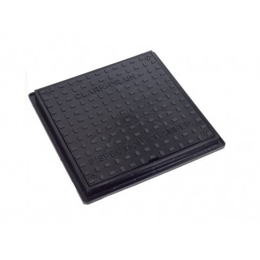 300mm Poly Manhole Cover & Frame Locking 35kN CD300