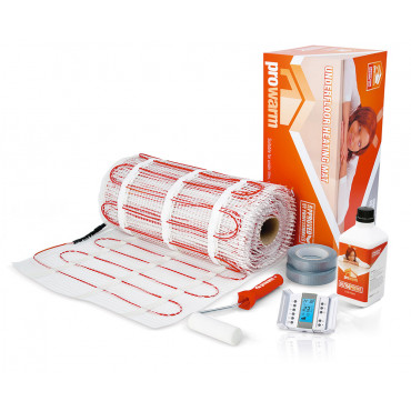 Electric Underfloor Heating 200w mat kit with Aube TH232-A-F-AF Thermostat
