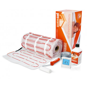 Electric Underfloor Heating 200w mat kit with Pro Touch IQ Thermostat