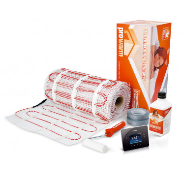 Electric Underfloor Heating 200w mat kit with 3IE Thermostat