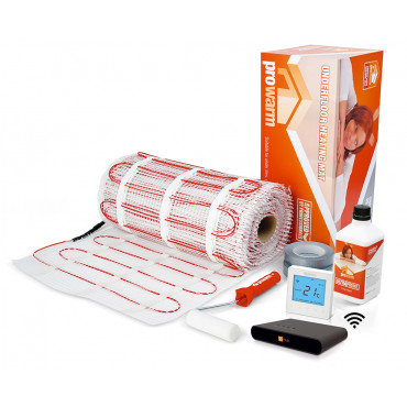 Electric Underfloor Heating 200w mat kit with Pro Touch IQ Hub Kit