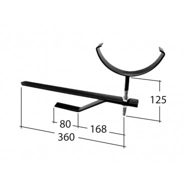 Traditional 125mm Half Round Rise&Fall Bracket