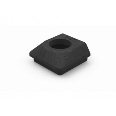 Hexdrain 68mm Black Round Downpipe Connector