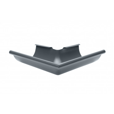 Steel Half Round 90 deg External Angle 100mm Diameter Anthracite Finish