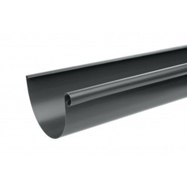 Steel Half Round Gutter Assemblies 3 Metre 100mm Diameter Anthracite Finish