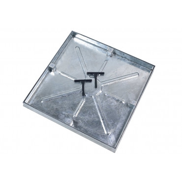 450 X 450 X 46MM Steel Double Sealed Recessed Manhole Cover and Frame 5T GPW AQK4545