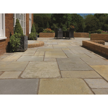 Cathedral Tudor Antique Natural Stone Paving Pack 15m2