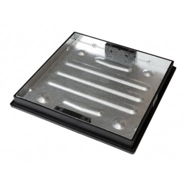 450 x 450 Shallow Galvanised Manhole Cover and Frame Recessed Paving CD450SR/46SL 54MM
