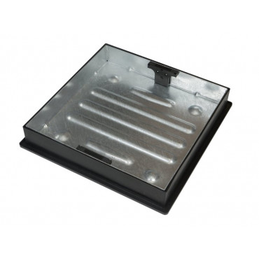 450 x 450 Deep Galvanised Manhole Cover and Frame Recessed Paving CD450SR 80MM