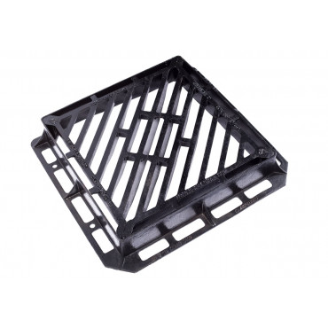 600 X 600 X 100mm D400 Double-Triangular Gully Grating and Frame