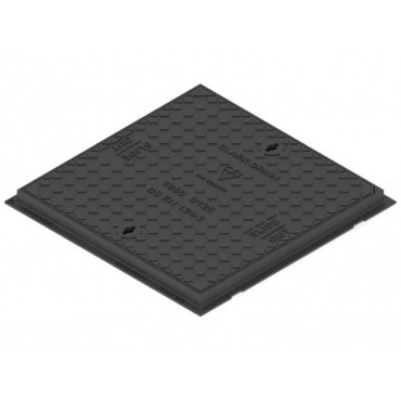600 x 600 x 40 Solid Top Cover and Frame B125KN CD777KMB