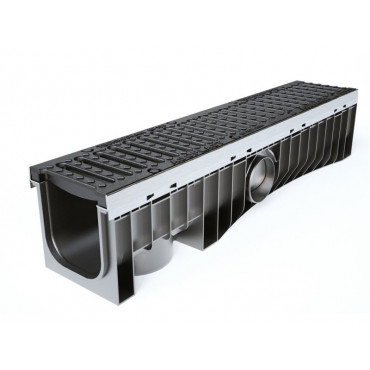 Technodrain 1m HDPE 150mm Channel With D400 Ductile Iron Grating