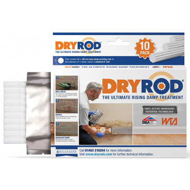 Dryrod Damp Proofing Rods Pack of 10