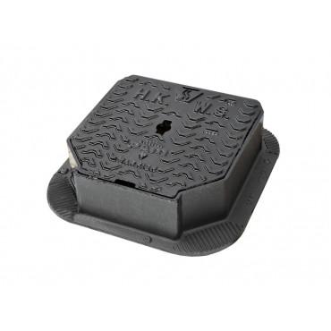 Warrior Grade A Single Piece Surface Box 225 x 225 x 100