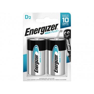 MAX PLUS™ D Alkaline Batteries (Pack 2)