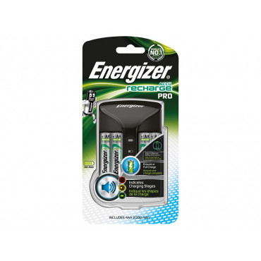 Pro Charger + 4AA 2000 mAh Batteries