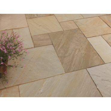 Golden Fossil Natural Sandstone Calibrated Contractors Pack 7.2m2
