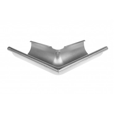 Steel Half Round 90 deg External Angle 100mm Diameter Galvanised Finish