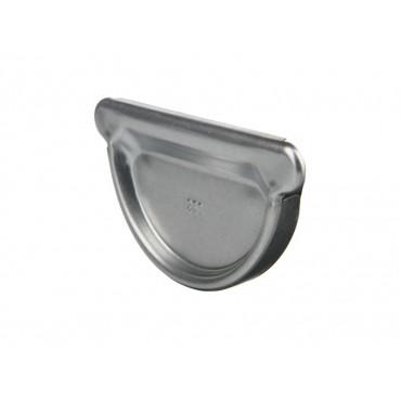 Steel Half Round Push Fit Stop-Ends 140mm 100mm Diameter
