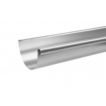 Steel Half Round Gutter Assemblies 3 Metre 100mm Diameter Galvanised Finish